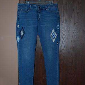 EUC Chaps Embroidered Jeans - 14
